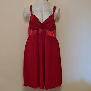 Red empire waist dress 2x plus size